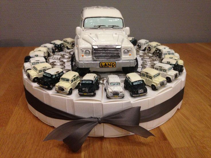 land rover sleutelhangers taart incl topper