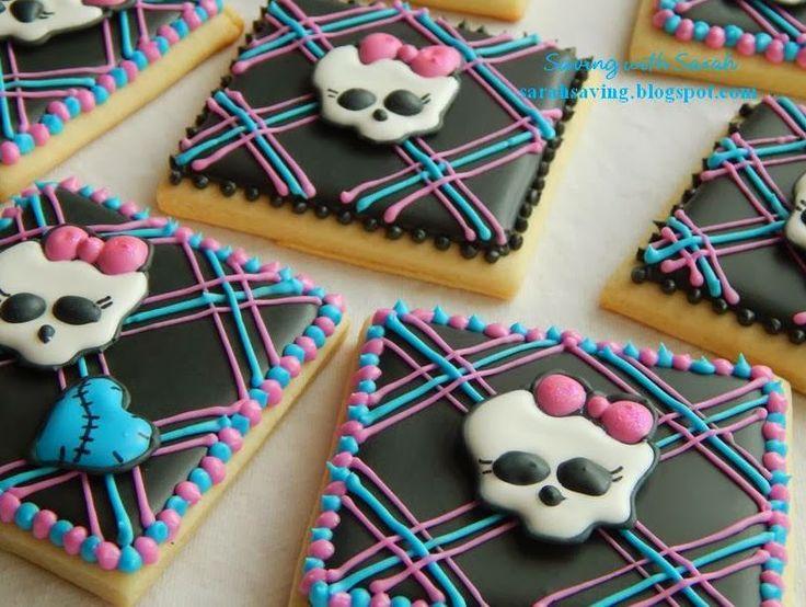 Plaid Monster High Cookies #monsterhigh