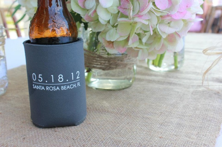 Wedding Koozies Logo designed by Lily Pad Boutique