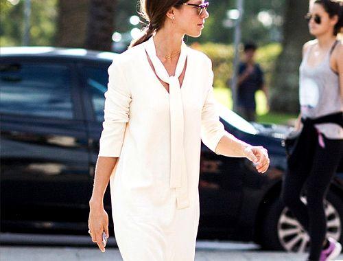 Białe stylizacje do pracy - 5 modnych elementów, biel, strój do biura, office look, stylizacje