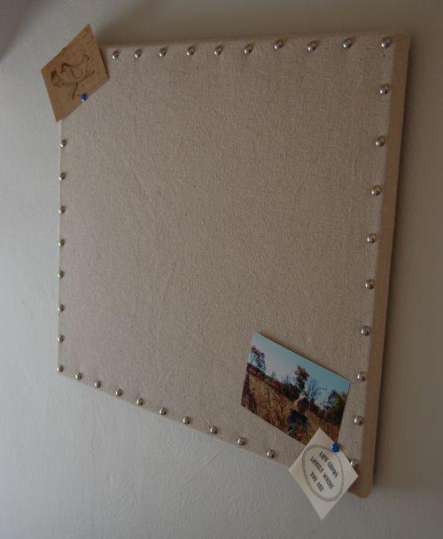 Homemade bulletin board