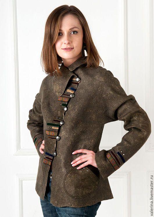 Пиджаки, жакеты ручной работы. Жакет валяный