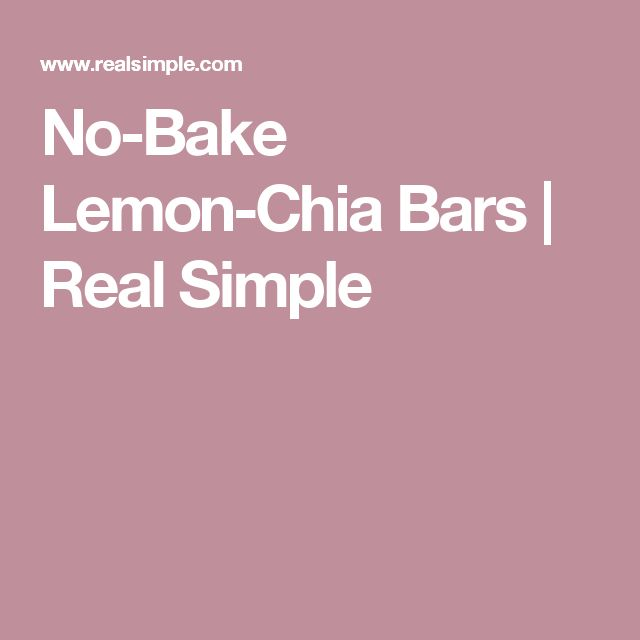 No-Bake Lemon-Chia Bars | Real Simple