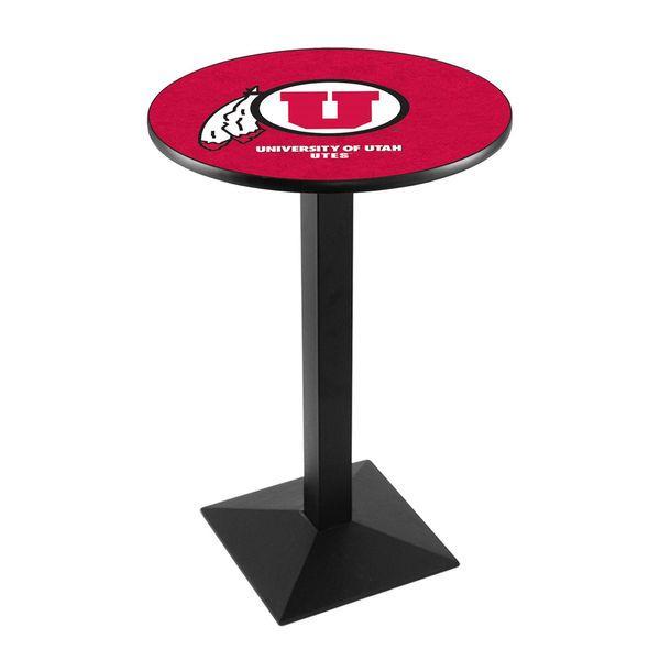 """Utah Utes 42"""" Square Base Black Pub Table - $329.99"""