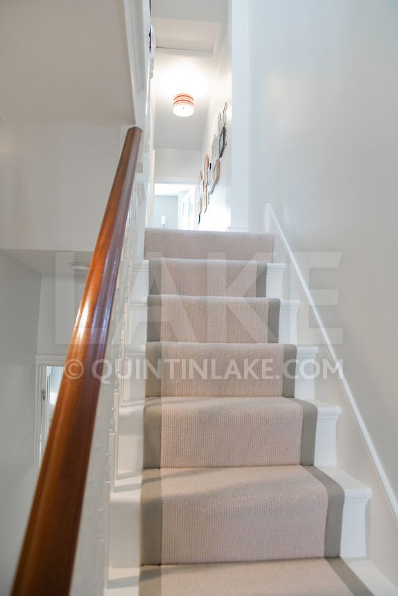 Staircase from a contemporary refurbishment of a Victorian terrace house at 74 Ulverscroft Road, East Dulwich, London, England. Designed by Jo Houchell & architect Oliver Houchell, 2008