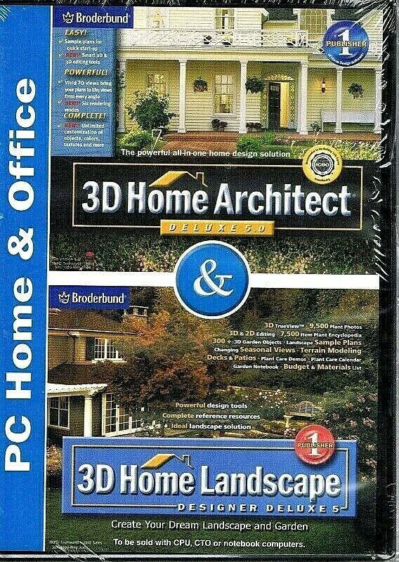 3d Home Architect And 3d Home Landscape Designer Deluxe 5 New Broderbund In 2020 Architect House 3d Home Architect Architect