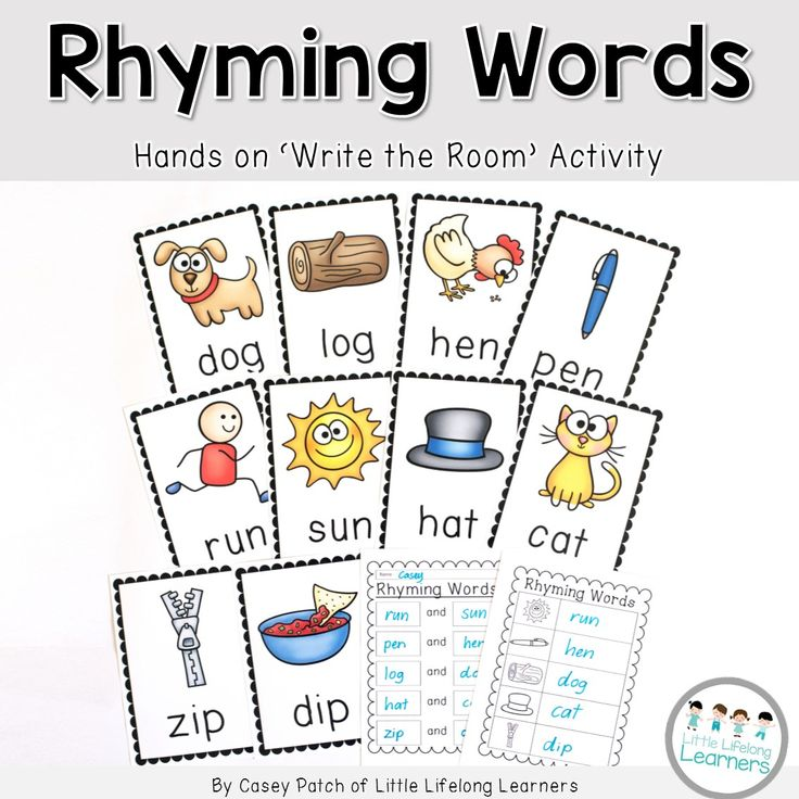 Rhyming Words - Write the Room hands on activity. Great way to review Rhyming Words in a hands on way. Differentiated to the needs of your learners. | Little Lifelong Learners