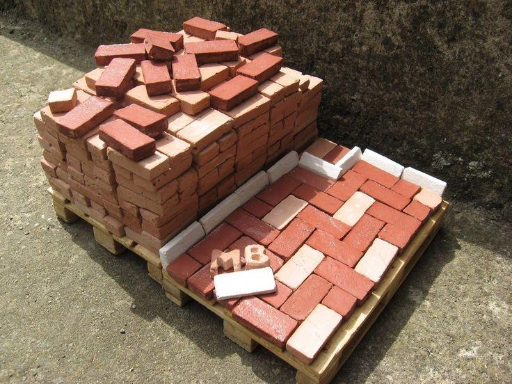 how to make diorama brick wall