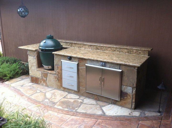 Best 25 Big Green Egg Outdoor Kitchen Ideas On Pinterest