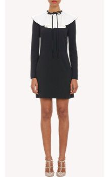 Valentino Bertha Collar Long-Sleeve Dress. Nothing goes out of style like looking like a Pilgrim. Really, I like this. I love the Puritan look.