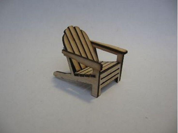 Dollhouse Miniature 1:24 Scale Adirondack Chair Kit #ME0192