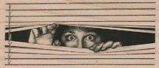 Peeking Through Venetian Blinds Large Humorous Rubber Stamp UNMOUNTED