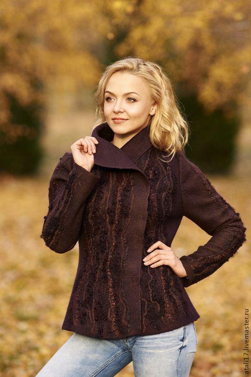 Купить Жакет Осень-войлок - жакет из войлока, жакет валяный, валяная одежда, одежда из войлока