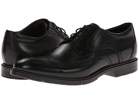 Rockport City Smart Wing Tip Oxford Black, Rockport, Shoes, Black, Men