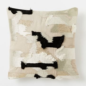 landing pillow  Embroidered Tapestry Pillow Cover - Light Gray #westelm