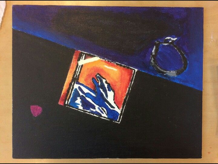 Eindresultaat  Mijn eigen touch: 1. De CD is het nieuwste album van mijn favoriete band. 2. Het armbandje heb ik van Janneke gekregen. Ze had hem meegenomen uit Ierland en heeft zelf hetzelfde armbandje maar dan in een andere kleur. 3. De plectrum heb ik erbij liggen omdat ik een gitaar een heel mooi instrument vind en zelf ook heel graag gitaar wil leren spelen Compositie: diagonale compositie Filter: Tears (popart)