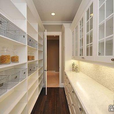 """I want to cry tears of joy looking at all this pantry space, but I don't know if I would really need all this...."" one pinner wrote.  I say, more is always better and yes, the space would get filled over time.  I'm in love with pantries and BIGGER IS ALWAYS BETTER!"