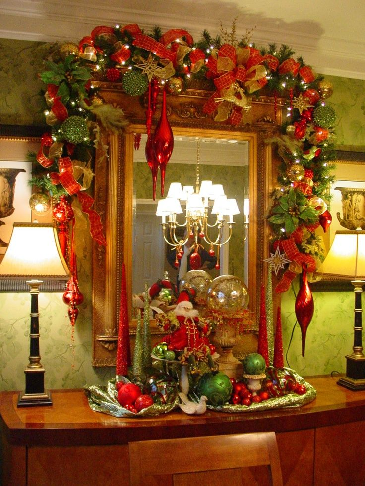 Christmas Decor Ideas For Apartment Living Room: 40 Best Christmas Swags And Arches Images On Pinterest