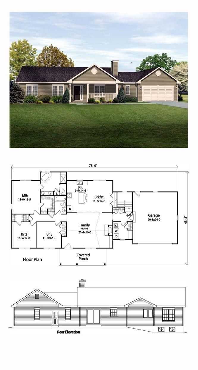 Pin By Mohammad Al Smadi On House Design Ranch Style House Plans Ranch House Plan New House Plans