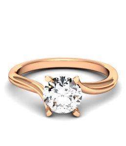 Помолвочное кольцо модель r-737 розовое золото.