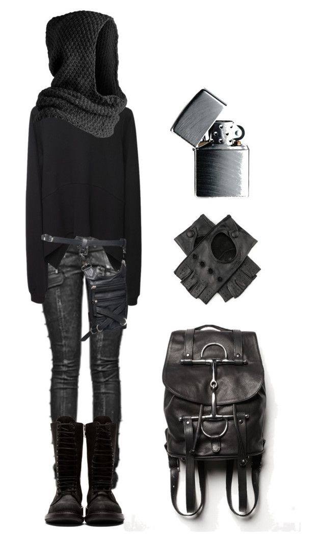 """More post-apocalyptic"" by shortcuttothestars ❤ liked on Polyvore featuring Vetements, Pieces, Rick Owens, Free People and Zippo"
