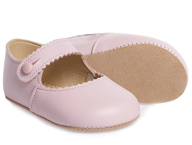 The cutest baby shoes! - Charlotte's shoes are by another brand that Kate has stayed loyal to; Children's Salon. The £29 Girls Pink Leather 'Emma' Pre-Walker Shoes are described on the website as 'very pretty pink leather shoes by Early Days'