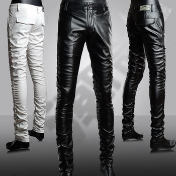 Кожаные штаны брюки одежда
