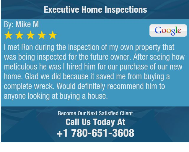 I met Ron during the inspection of my own property that was being inspected for the future...