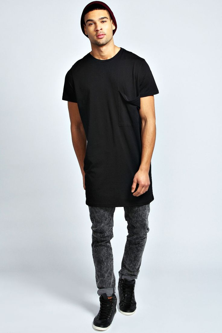 OVERSIZED POCKET LONG LINE T SHIRT | PORMAHANG PETMALU | Pinterest | Oversized tee T shirt ...