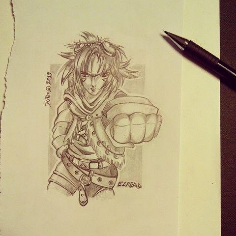 Ezreal #lol #leagueoflegends #pencils #illustration #characterdesign #sketching #anime #animegirl