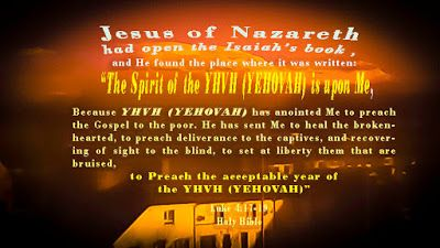 Talking about Jesus Christ.:   And Jesus, being full of the Holy Spirit (Ghost)...