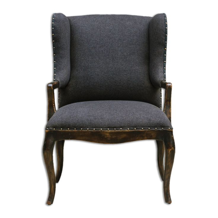 Chione Black Armchair by Uttermost