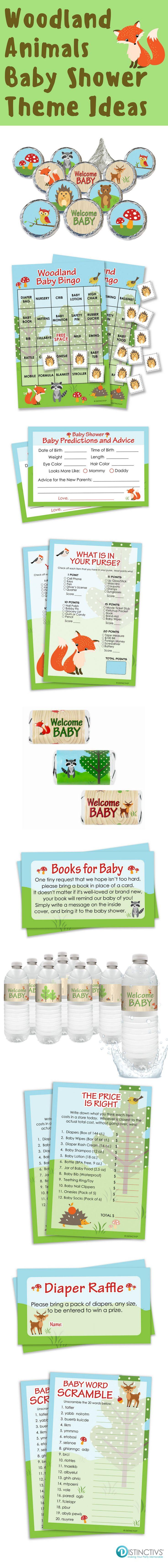 95 best Woodland Animals Baby Shower images on Pinterest