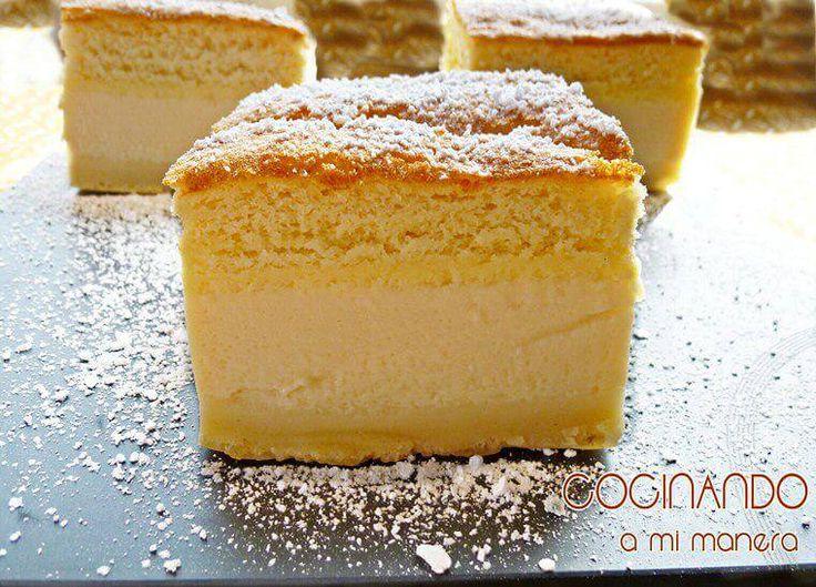 Receta paso a paso de pastel inteligente, un suave y delicioso pastel con tres capas diferenciadas que se consiguen con una sola masa. Tienes que probarlo!!