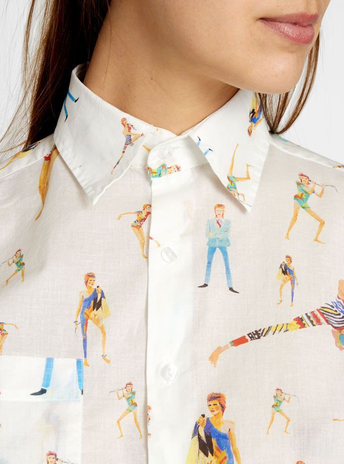 David Bowie shirt G. Kero #style #fashion #streetstyle
