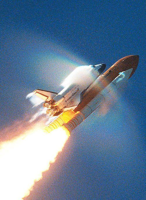 Space Shuttle Atlantis going supersonic. via reddit