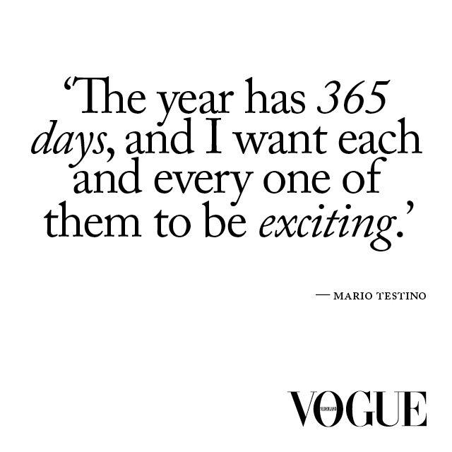 Mario Testino's life expectations.