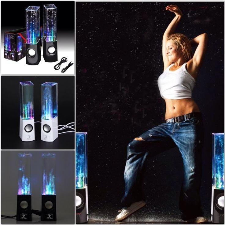Dancing Water Speaker Active Portable Mini USB LED Light Speaker For iphone ipad PC MP3 PSP 4 subwoofer water column audio box