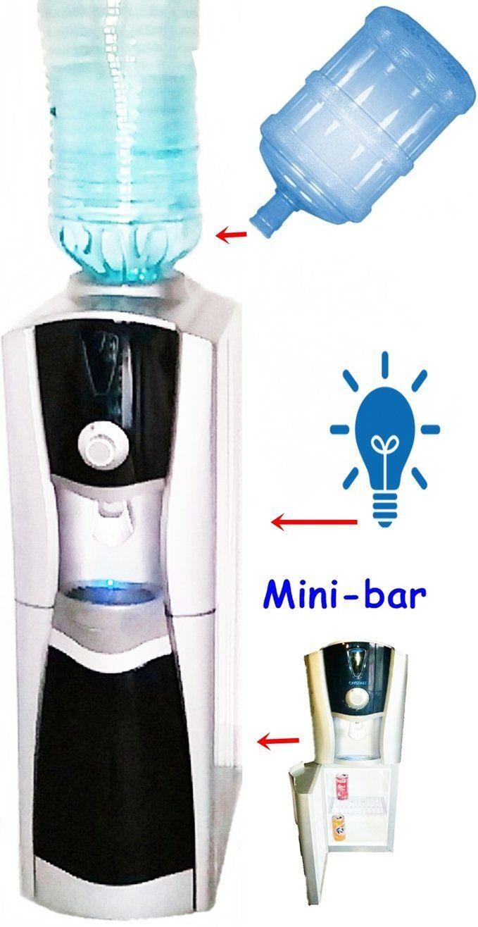 Distributeur d'eau pour bouteilles de 3/5 gallons + bureau réfrigérateur - refroidisseur d'eau de bureau fontaine d'eau pour les bureaux: Amazon.fr: Cuisine & Maison