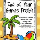 End+of+Year+Games+Freebie+by+Games+4+Learning+is+a+collection+of+7+printable+games+for+End+of+Year+celebrations!++  It+includes+7+printable+End+of+...