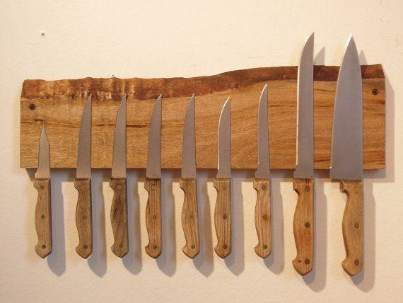 best 25 rustic knife blocks ideas on pinterest knife storage magnetic knife blocks and magnetic knife holder - Knife Storage