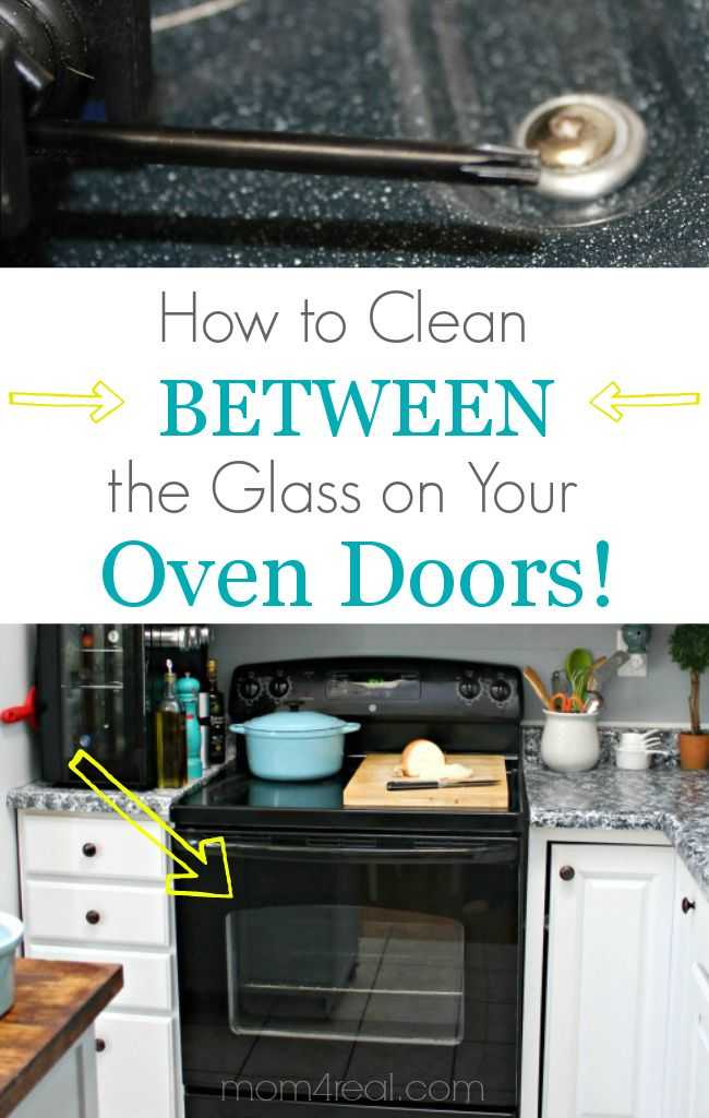 How to Clean Between the Glass on your Oven Doors - via mom4real.com