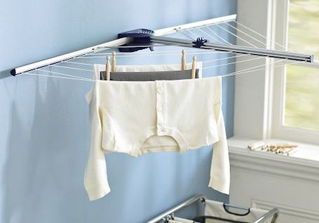 17 best images about hangers racks on pinterest clothes racks closet solutions and loft ladders - Laundry drying racks for small spaces property ...