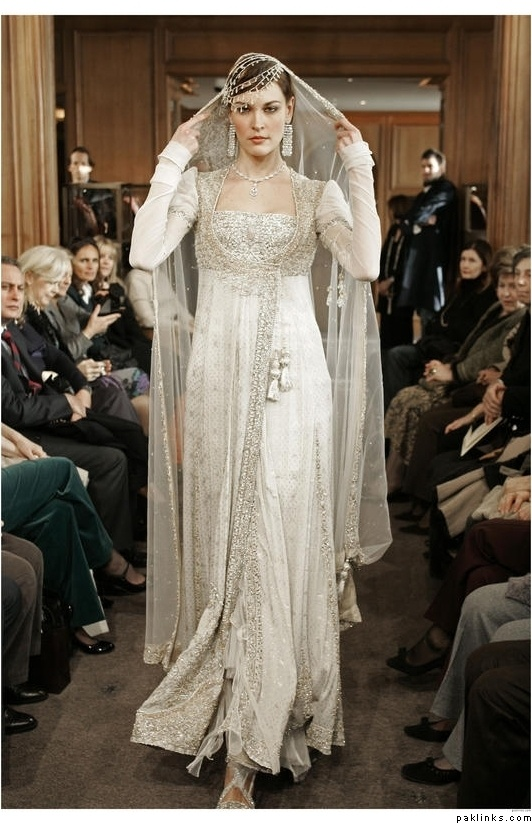 Traditional pakistani wedding dress simply beautiful for Simply white wedding dresses