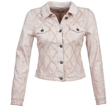 Añade esta cazadora vaquera de Cream a tu dressing ¡y asegúrate un toque de estilo! Desde su color rosa hasta su fabricación en algodón (98%) y elastano (2%), se ha cuidado cada detalle. Gracias a su estilo vintage, con esta prenda lograrás un estilo muy tendencia.  #cazadoras #chaquetas #denim #moda #mujer #spartoo  http://www.spartoo.es/Cream-THERESA-JKT-x873050.php