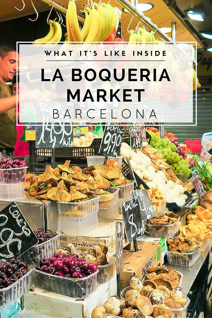 El famoso Mercado de La Boquería, Barcelona.