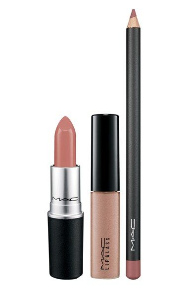 This M·A·C lip trio is the perfect kit for a statement pout in modern neutrals. / @nordstrom #nordstrom