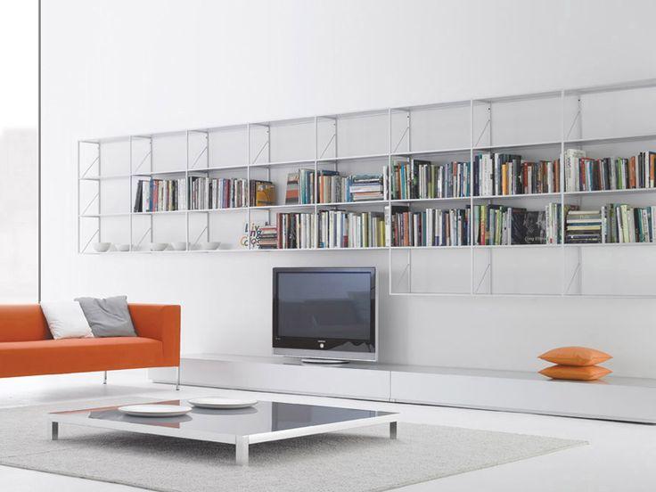 Libreria A Giorno Modulare In Alluminio MINIMA Collezione Minima By MDF  Italia | Design Bruno Fattorini