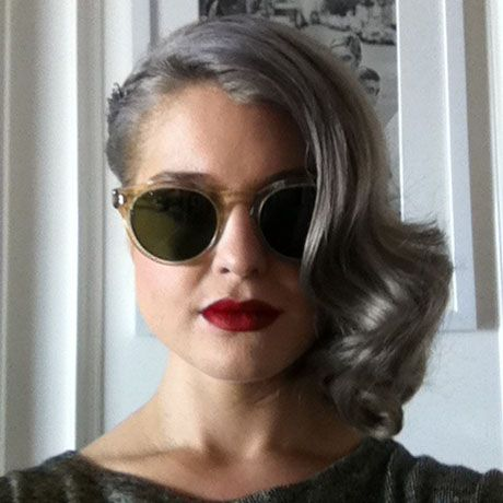 """ombre grey hair 