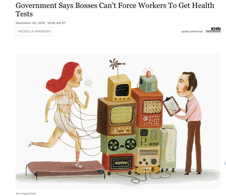 Bosses and health tests illustrator unknown employee